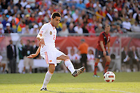 Bruno Soriano (8) of Spain. The men's national team of Spain (ESP) defeated the United States (USA) 4-0 during a International friendly at Gillette Stadium in Foxborough, MA, on June 04, 2011.