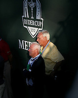 29 SEP 12  Gerry McIlroy enjoying Saturdays four ball matches  at The 39th Ryder Cup at The Medinah Country Club in Medinah, Illinois.
