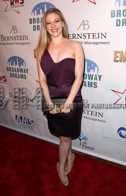 Kirsten Scott attending the Broadway Dreams Foundation's 'Champagne & Caroling Gala' at Celsius at Bryant Park, New York on December 10, 2012