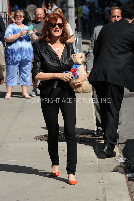 WWW.ACEPIXS.COM <br /> June 16, 2014 New York City:<br /> <br /> Susan Sarandon arriving to tape an appearance on the Late Show with David Letterman on June 16, 2014 in New York City.<br /> <br /> Please byline: Kristin Callahan/ACE Pictures  <br /> <br /> ACEPIXS.COM<br /> Ace Pictures, Inc<br /> tel: (212) 243 8787 or (646) 769 0430<br /> e-mail: info@acepixs.com<br /> web: http://www.acepixs.com