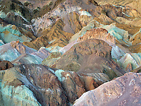 Colorful rocks at Artists Paslette. Death Valley National Park, California