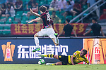 AC Milan Midfielder Niccolo Zanellato (L) trips up with Borussia Dortmund Midfielder Mario Gotze (R) during the International Champions Cup 2017 match between AC Milan vs Borussia Dortmund at University Town Sports Centre Stadium on July 18, 2017 in Guangzhou, China. Photo by Marcio Rodrigo Machado / Power Sport Images