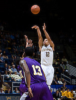 Brandon Smith of California shoots the ball during the game against SFSU at Haas Paviliion in Berkeley, California on November 6th, 2012.  California defeated San Francisco State, 89-80.