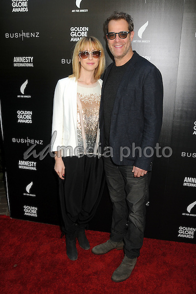 8 January 2016 - West Hollywood, California - Mindy Crist, Josh Stamberg. 1st Annual Art for Amnesty Pre-Golden Globes Brunch held at Chateau Marmont. Photo Credit: Byron Purvis/AdMedia