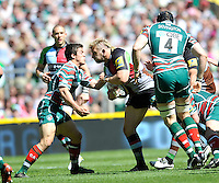 Aviva Premiership Final .Twickenham, England. Joe Marler of Harlequins charges forward during the AVIVA Premiership Final between Harlequins and Leicester Tigers at Twickenham Stadium on May 26, 2012 in London, United Kingdom.