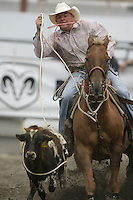 26 Aug 2010:  Will Casey scored a time of 10.9 in the slack Tie Down Roping competition at the Kitsap County Stampede Wrangle Million Dollar PRCA Silver Rodeo Tour Bremerton, Washington.
