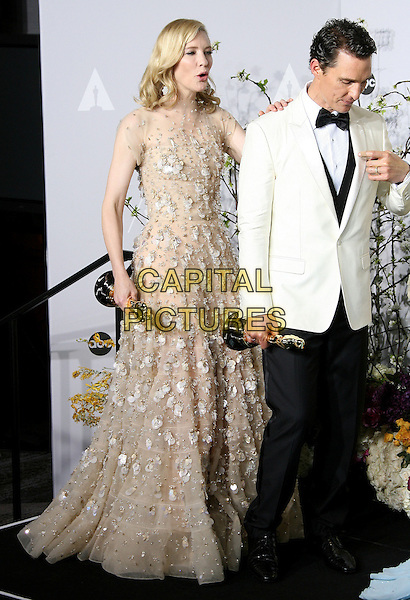 02 March 2014 - Hollywood, California - Matthew McConaughey, Cate Blanchett. 86th Annual Academy Awards held at the Dolby Theatre at Hollywood &amp; Highland Center. <br /> CAP/ADM<br /> &copy;AdMedia/Capital Pictures