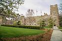 West campus quad, springtime