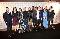The Netherlands, Rotterdam, 21 January 2015. The 44th International Film Festival Rotterdam - IFFR 2015. Present at IFFR opening night: Cast and crew openings film War Book. From left; producer Mike<br />