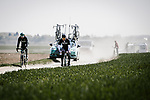 Bora-Hansgrohe recon the cobbles before Paris-Roubaix 2019. 11th April 2019<br /> Picture: ASO/Pauline Ballet | Cyclefile<br /> All photos usage must carry mandatory copyright credit (&copy; Cyclefile | ASO/Pauline Ballet)