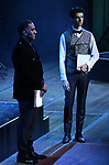 "Norm Lewis and Drew Gehling performing during the MCP Production of ""The Scarlet Pimpernel"" Concert at the David Geffen Hall on February 18, 2019 in New York City."