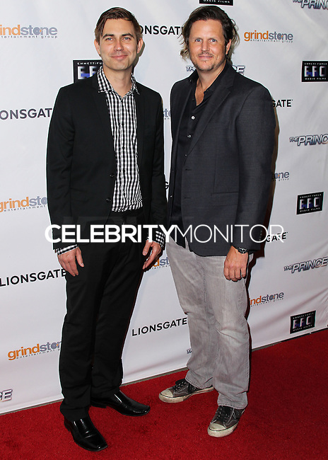 HOLLYWOOD, LOS ANGELES, CA, USA - AUGUST 18: Taylor Newton Stewart, Andrew Grush at the Los Angeles Premiere Of Lionsgate Films' 'The Prince' held at the TCL Chinese 6 Theatre on August 18, 2014 in Hollywood, Los Angeles, California, United States. (Photo by Xavier Collin/Celebrity Monitor)