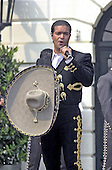 "Pablio Montero sings at United States President George W. Bush's ""Cinco de Mayo"" celebration at the White House in Washington, DC on May 4, 2001.<br /> Credit: Ron Sachs / CNP"