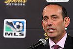 10 August 2011: Major League Soccer commissioner Don Garber. MLS and NBC held a press conference at Lincoln Financial Field in Philadelphia, Pennsylvania announcing a three year broadcast deal involving MLS and U.S. Men's National Team games to be shown on NBC and NBC Sports Network (currently Versus) from 2012 to 2014.