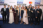 Benj Pasek, Steven Levenson, Laura Dreyfuss, Ben Platt, Rachel Bay Jones, Michael Park, Jennifer Laura Thompson, Kristolyn Lloyd, Will Roland, Mike Faist, Alex Lacamoire, Michael Greif and Justin Paul attends the Broadway Opening Night After Party for 'Dear Evan Hansen'  at The Pierre Hotel on December 3, 2016 in New York City.