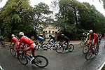 A wet miserable day for the 102nd edition of GranPiemonte 2018, running 191km from Racconigi to Stupinigi, Piemonte, Italy. 11th October 2018.<br /> Picture: LaPresse/Fabio Ferrari   Cyclefile<br /> <br /> <br /> All photos usage must carry mandatory copyright credit (© Cyclefile   LaPresse/Fabio Ferrari)