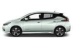 Car driver side profile view of a 2018 Nissan Leaf N Connecta 5 Door Hatchback