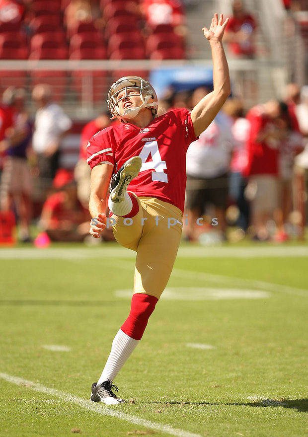 San Francisco 49ers Andy Lee (4) during a game against the Kansas City Chiefs on October 5, 2014 at Levi's Stadium in Santa Clara, CA. the 49ers beat the Chiefs 22-17.