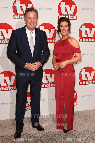Piers Morgan &amp; Susanna Reid at The TVChoice Awards 2016 at the Dorchester Hotel, London. <br /> September 5, 2016  London, UK<br /> Picture: James Smith / Featureflash