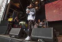 Willow Smith performs as her Mother Jada Pinkett Smith & Brooklyn Beckham watch in the background during The New Look Wireless Music Festival at Finsbury Park, London, England on Sunday 05 July 2015. Photo by Andy Rowland.