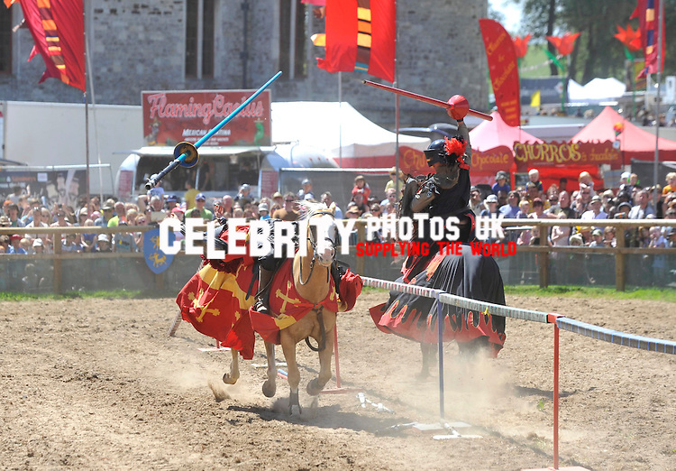 Jousting Tournament at camp bestival 29/07/2012 Picture By: Brian Jordan / Retna Pictures.. ..-..