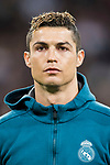 Cristiano Ronaldo of Real Madrid prior to the UEFA Champions League 2017-18 Round of 16 (1st leg) match between Real Madrid vs Paris Saint Germain at Estadio Santiago Bernabeu on February 14 2018 in Madrid, Spain. Photo by Diego Souto / Power Sport Images