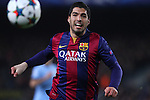 11.03.2015 Barcelona.UEFA champions League. Rounf 0f 16 2nd leg. Picture show Luis Suarez durring game between FC Barcelona against Manchester city at Camp Nou