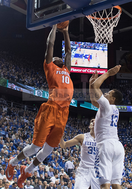 Florida's Finney-Smith dunks the ball during the game against the Florida Gators at Rupp Arena on February 6, 2016 in Lexington, Kentucky. Kentucky defeated Florida 80-61.