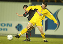 15/03/2005         Copyright Pic : James Stewart.File Name : jspa07_falkirk_v_clyde.NEIL SCALLY AND GRAHAM JONES CHALLENGE....Payments to :.James Stewart Photo Agency 19 Carronlea Drive, Falkirk. FK2 8DN      Vat Reg No. 607 6932 25.Office     : +44 (0)1324 570906     .Mobile   : +44 (0)7721 416997.Fax         : +44 (0)1324 570906.E-mail  :  jim@jspa.co.uk.If you require further information then contact Jim Stewart on any of the numbers above.........A
