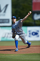 Lexington Legends starting pitcher Kris Bubic (14) in action against the Kannapolis Intimidators at Kannapolis Intimidators Stadium on May 15, 2019 in Kannapolis, North Carolina. The Legends defeated the Intimidators 4-2. (Brian Westerholt/Four Seam Images)
