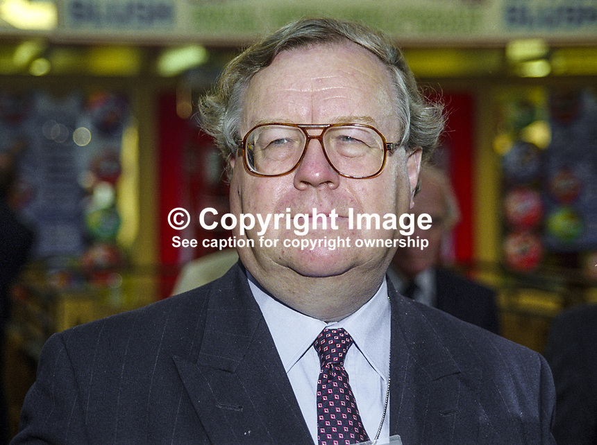 Sir Patrick Cormack, Conservative MP, Britain, Conservative Party, Conference, Blackpool, 199910023.<br /> Copyright Image from Victor Patterson, 54 Dorchester Park, <br />Belfast, UK, BT9 6RJ<br /><br />t1: +44 28 9066 1296 (from Rep of Ireland 048 9066 1296)<br />t2: +44 28 9002 2446 (from Rep of Ireland 048 9002 2446)<br />m: +44 7802 353836<br /><br />victorpattersonbelfast@gmail.com<br /><br />Please see my Terms and Conditions of Use at victorpatterson.com. It is IMPORTANT that you familiarise yourself with them.<br /><br />Images used on the Internet incur an additional cost and must be visibly watermarked i.e. &copy; Victor Patterson within the body of the image and copyright metadata must not be deleted. Images used on the Internet have a size restriction of 4kbs and are chargeable at rates available at victorpatterson.com.<br /><br />This image is available only for the use of the download recipient i.e. television station, newspaper, magazine, book publisher, etc, and must not be passed on to any third party. It is also downloaded on condition that each and every usage is notified within 7 days to victorpattersonbelfast@gmail.com<br /><br />The right of Victor Patterson (or the named photographer) to be identified as the author is asserted in accordance with The Copyright Designs And Patents Act (1988). All moral rights are asserted.