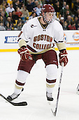 Jimmy Hayes (BC - 10) - The Boston College Eagles defeated the Boston University Terriers 3-2 (OT) in their Beanpot opener on Monday, February 7, 2011, at TD Garden in Boston, Massachusetts.