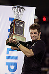 All Black Richie McCaw holds the Freedom Cup following the international rugby match between the New Zealand All Blacks and South Africa at Jade Stadium, Christchurch, New Zealand. 14 July 2007. Photo: Marc Weakley