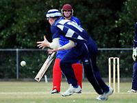Action from the Secondary School Boys' First XI Cup national cricket finals match between Otago Boys' High School and Rosmini College at Manawaroa Park in Palmerston North, New Zealand on Friday, 8 December 2017. Photo: Dave Lintott / lintottphoto.co.nz