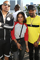 BEVERLY HILLS, CA - JUNE 22: DJ Envy, Angela Yee and DJ Clue at  The Def Jam Recordings BETX celebration at Spring Place Beverly Hills in partnership with Puma, Courvoisier, Beats and Heineken on June 22, 2019 in Beverly Hills, California.  Credit: Walik Goshorn/MediaPunch