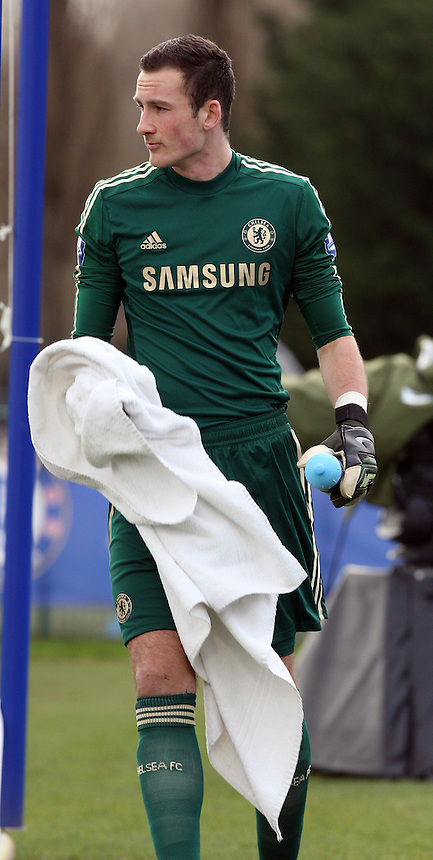 Chelsea's Michael Beeney<br /> <br /> <br /> <br /> Photo by Kieran Galvin/CameraSport<br /> <br /> Football - UEFA Youth League - Chelsea  U19 v AC Milan U19 - Tuesday 25th February 2014 - Cobham Training Ground - Cobham<br /> <br /> &copy; CameraSport - 43 Linden Ave. Countesthorpe. Leicester. England. LE8 5PG - Tel: +44 (0) 116 277 4147 - admin@camerasport.com - www.camerasport.com