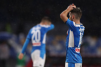 Dries Mertens of Napoli and Piotr Zielinski dejection<br /> Napoli 09-11-2019 Stadio San Paolo <br /> Football Serie A 2019/2020 <br /> SSC Napoli - Genoa CFC<br /> Photo Cesare Purini / Insidefoto