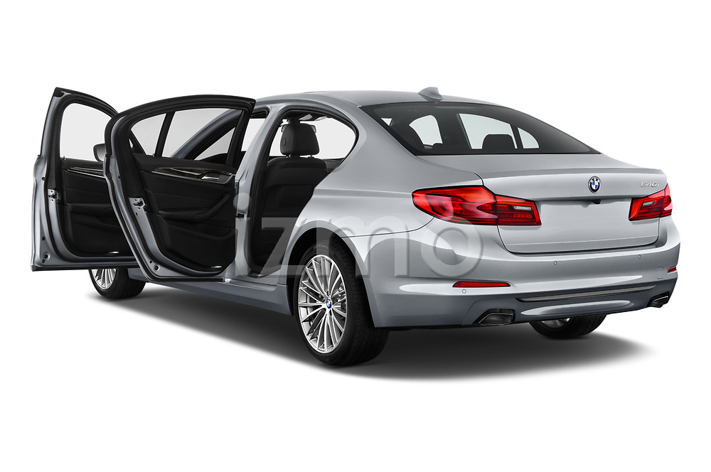 Car images close up view of a 2018 BMW 5 Series 540i Sport Line 4 Door Sedan doors