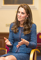 12 June 2017 - Princess Kate, Duchess of Cambridge at Kings College Hospital in south London to meet staff and patients who were affected by the terrorist attacks in London Bridge and Borough Market London. Photo Credit: ALPR/AdMedia
