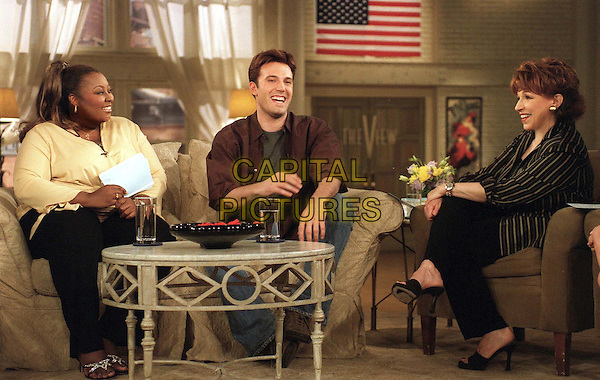 STAR JONES, BEN AFFLECK & JOY BEHAR.in The View.TV Filmstill - Editorial Use Only.Ref: FB.www.capitalpictures.com.sales@capitalpictures.com.Supplied by Capital Pictures