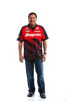 Feb 8, 2017; Pomona, CA, USA; NHRA funny car driver Cruz Pedregon poses for a portrait during media day at Auto Club Raceway at Pomona. Mandatory Credit: Mark J. Rebilas-USA TODAY Sports