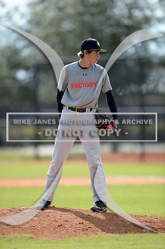 Niels Stone (25) of Naples, Florida participates in the Baseball Factory All-America Pre-Season Rookie Tournament, powered by Under Armour, at Lake Myrtle Sports Complex on January 19, 2014 in Auburndale, Florida.  (Copyright Mike Janes Photography)
