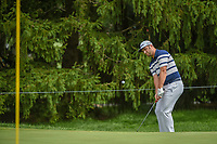 Jon Rahm (ESP) chips in from off the green on 15 during 1st round of the World Golf Championships - Bridgestone Invitational, at the Firestone Country Club, Akron, Ohio. 8/2/2018.<br /> Picture: Golffile | Ken Murray<br /> <br /> <br /> All photo usage must carry mandatory copyright credit (© Golffile | Ken Murray)