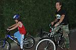 Brian Grazer riding bikes with son in malibu.