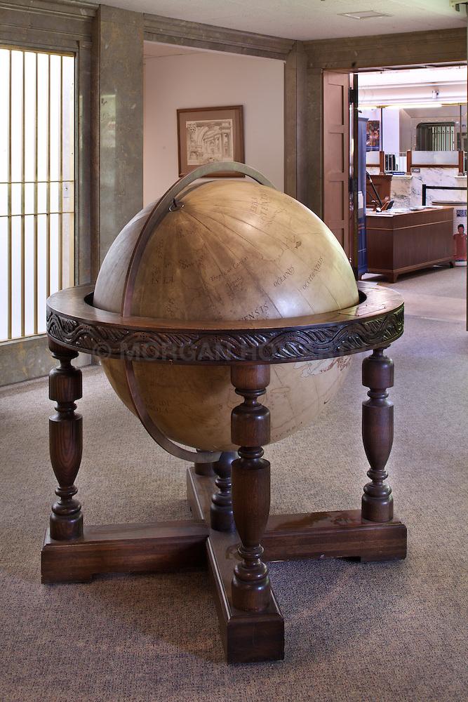 Antique Large Floor Globe Morgan Howarth Graphy