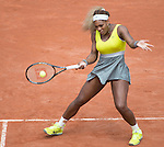 Serena Williams (USA), loses to Garbine Muguruza (ESP) 6-2, 6-2 at  Roland Garros being played at Stade Roland Garros in Paris, France on May 28, 2014