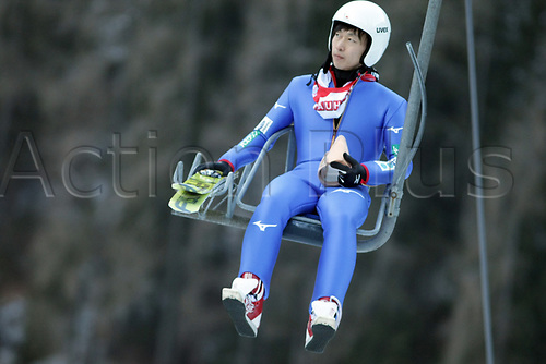 12th January 2018, Val di Fiemme, Fiemme Valley, Italy; FIS Nordic Combined World Cup, Mens Gundersen; Hideaki Nagai (JPN) on the chair to the top
