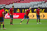 Glendale, AZ - Friday June 24, 2016: Geoff Cameron, Michael Bradley y DeAndre Yedlin of the United States during a training prior to the third place match of the Copa America Centenario at the University of Phoenix Stadium.<br /> Action photo during of the United States team training before the game against the selection of Colombia for third place in the America Cup Centenary 2016 at University of Phoenix Stadium<br /> <br /> Foto de accion durante el Entrenamiento de la Seleccion de Estados Unidos previo al partido contra la Seleccion de Colombia por el tercer lugar de la Copa America Centenario 2016, en el Estadio de la Universidad de Phoenix, en la foto: (i-d) Geoff Cameron, Michael Bradley y DeAndre Yedlin de USA<br /> <br /> <br /> 24/06/2016/MEXSPORT/Victor Posadas.