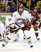 Cory Schneider (Boston College - Marblehead, MA), Carl Sneep (Boston College - Nisswa, Minnesota), Alex Meintel (Harvard University - Yarmouth, ME) - The Boston College Eagles defeated the Harvard University Crimson 3-1 in the first round of the 2007 Beanpot Tournament on Monday, February 5, 2007, at the TD Banknorth Garden in Boston, Massachusetts.  The first Beanpot Tournament was played in December 1952 with the scheduling moved to the first two Mondays of February in its sixth year.  The tournament is played between Boston College, Boston University, Harvard University and Northeastern University with the first round matchups alternating each year.