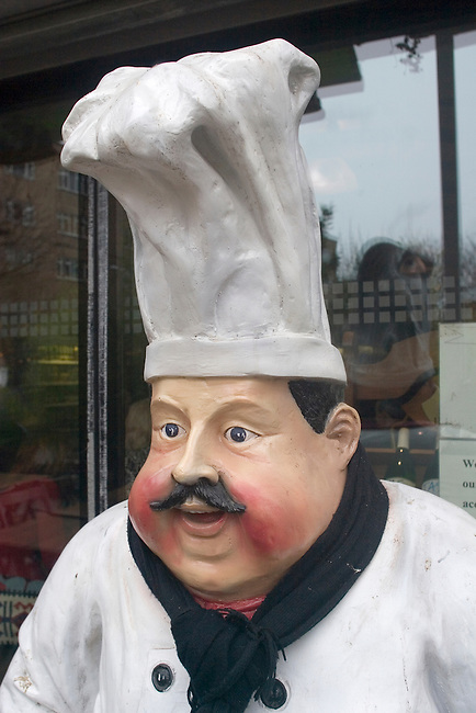 Chef Statue, EV Restaurant, London, England